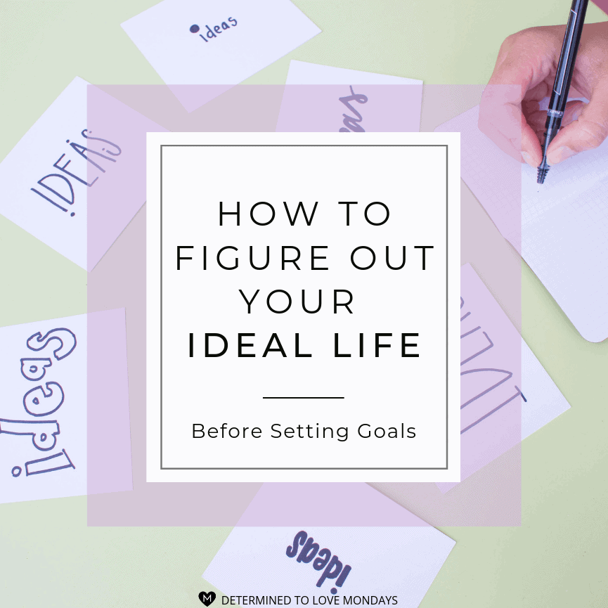 Title image with light purple border with a light green background image of post-it notes that say IDEAS in different handwriting and a hand with pen