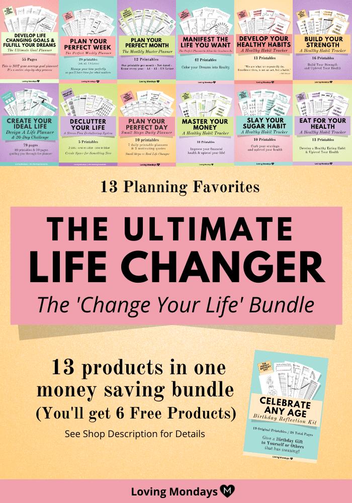 goals personal goal planner dream better ultimate changer bundle printable kit comment